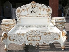 Neoclassical antique gold furniture/ new French style gold bedroom ...