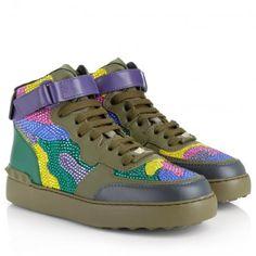 Valentino Sneakers – High-Top Sneaker Olive-Green Multicoloured – in grün, bunt – Sneakers für Damen