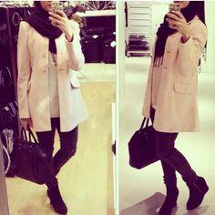PINTEREST TASNEEM HEMA Casual Hijab Outfit, Hijab Chic, Hijab Look, Street Hijab Fashion, Islamic Clothing, Modest Fashion, Muslim, Fall Outfits, Hijab Styles