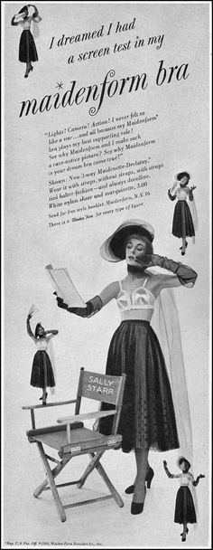 d955c7c1873 Advertisement for Maidenform Bras (Maiden Form Brassiere Co.)  1 November  featured on page 72 of