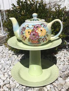Teapot Feeder   Ceramic Bird Feeder   Garden Accessories   Garden Decor    Upcycled Teapot Feeder