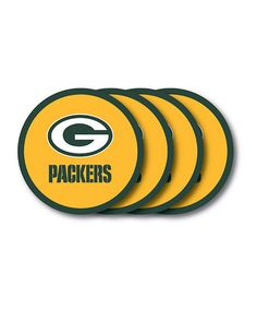 Love this Green Bay Packers Coaster - Set of Four on #zulily! #zulilyfinds