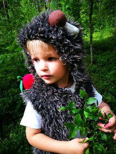 Hedgehog costume/Hedgehog hoodie/Hedgehog vest/Toddler