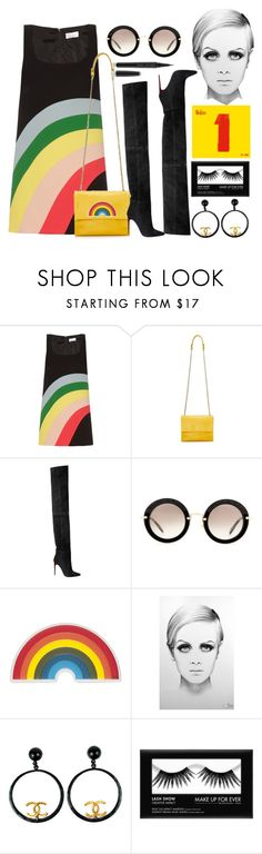 """Penny Lane"" by xmoonagedaydreamx ❤ liked on Polyvore featuring RED Valentino, Lanvin, Balmain, Miu Miu, Anya Hindmarch, Lucky Brand, Chanel and Marc Jacobs"