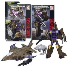 """Hasbro Year 2015 Transformers Generations Combiner Wars Series 5-1/2"""" Tall Robot Figure - Decepticon BLAST OFF with Blaster, Bruticus' Right Arm and Comic Book (Vehicle Mode: Fighter Jet)"""