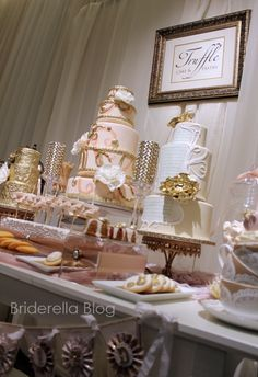 Vintage sweet table from Truffles.