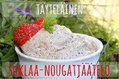 suklaa-nougatjäätelö(2) Pudding, Breakfast, Sweet, Desserts, Food, Breakfast Cafe, Tailgate Desserts, Deserts, Essen