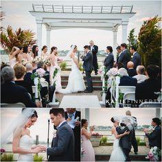 Outdoor wedding ceremony photos at Lombardi's on the Bay, Long Island. Wedding Photos by Rochester, NY based Wedding Photographer Katie Finnerty Photography | http://www.katiefinnertyphotography.com/blog/2015.6.17.lombardis-on-the-bay-wedding-amanda-ajLong Island Wedding