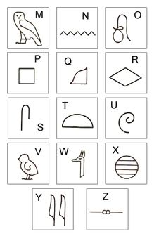 Risultati immagini per egyptian art lesson Alphabet Symbols, Egyptian Drawings, Egyptian Art, Ancient Art, Ancient History, Ancient Egypt Activities, History Of Wine, Egyptian Mythology, Ancient Egypt