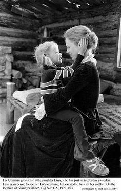 """Zandy's Bride"" Liv Ullmann and daughter Linn on the Big Sur Location, 1973"