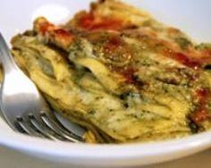 Lasagnes fondantes au pesto et fromage asiago : http://www.cuisineaz.com/recettes/lasagnes-fondantes-au-pesto-et-fromage-asiago-57798.aspx