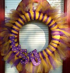 LSU Tulle Wreath. $30.00, via Etsy.