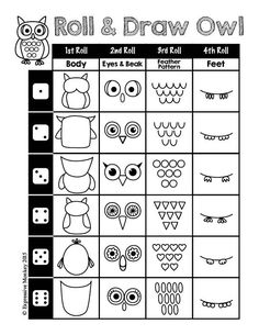 Art Activities: How to Draw: Fall Drawing Fun Drawing Tips how to draw an owl Drawing Tips, Drawing Tutorials, Drawing Drawing, Drawing Sheet, Drawing Ideas, Fall Drawings, Art Sub Plans, Art Worksheets, Owl Art