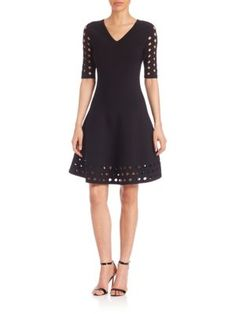 MILLY Cutout Fit & Flare Dress. #milly #cloth #dress