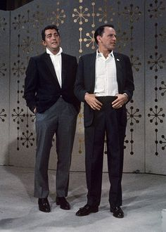 """""""We're practically like brothers. Everything we do, we do together. We always keep in touch with each other and our families are always together. Well, we're brothers. Everything is Frank and Dean.""""- Dean Martin on his friendship with Frank"""