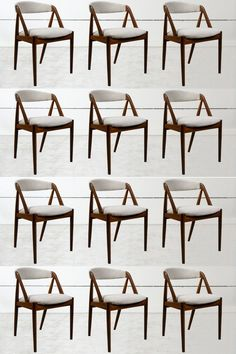 12 X Chaises Scandinaves En Teck Massif 1960, Pascal Sarfati, Proantic Home Interior Design, Dining Chairs, Display, Furniture, Home Decor, Scandinavian Chairs, Antique Shops, Teak, Solid Wood