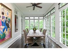 love this table and porchdining room idea - Sunroom Dining Room