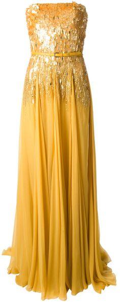 Elie Saab Sequined Evening Gown *dressmesweetiedarling