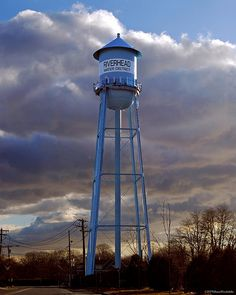 Riverhead Water Tower by Diane Woodcheke, via Flickr......my grandmothers house was right down the street..ahhh memories!!!!