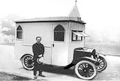 1921 Ford Model T converted to a mobile chapel - a motorhome of God, so to speak.