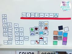 Use the mini cards to help students create simple sentences in French! Great Daily 5 / 5 au quotidien centre for French Immersion students! French Lessons, Spanish Lessons, French Tips, French Sentences, Simple Sentences, Vocabulary Sentences, Spanish Teaching Resources, French Resources, Spanish Activities