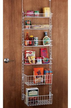KITCHEN ORGANIZATION IDEAS - Door Rack Pantry Organizer
