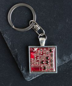 04c80b32436 Circuit board keychain is an outstanding present for techie lovers and  those who like uncommon accessories