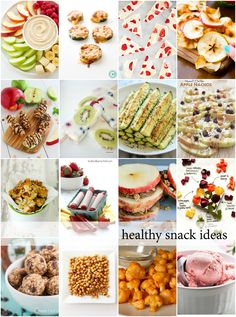 Sharing a variety of some healthy snacks when you want something tasty but without all the fat and calories.