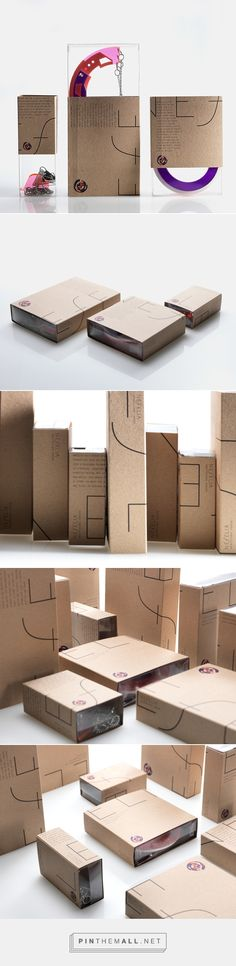 Architectural Fashion on Behance - Packaging for Nefelia, jewelry designer based in Athens.