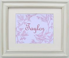 Pink Toile Wall Art