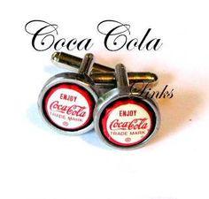 vintage Coca Cola pop caps cuff links on ETSY
