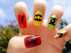 Nerd nails. Awesome.
