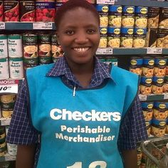 All smiles at Checkers. This woman is one of many happy GetOn graduates. She is now able to help provide for her family. GetOn strives to develop and empower unemployed / disadvantaged people, giving them essential skills for better economic opportunities, through a nurturing holistic approach.