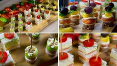 Round snacks - fast and tasty Canapes Recipes, Appetizers, Party Buffet, Snacks, Caramel Apples, Finger Foods, Sandwiches, Cherry, Cocktails