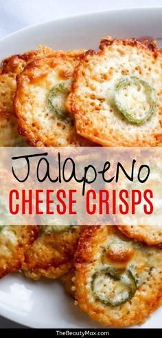 Cheese Crisps With Jalapeno - Perfect Keto Snack! The Parmesan chips are the p . Parmesan Chips, Keto Snacks, Healthy Snacks, Healthy Eating, Low Carb Keto, Low Carb Recipes, Healthy Recipes, Appetizer Recipes, Snack Recipes