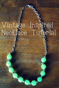 A #vintage inspired necklace #tutorial. #CheckOutMyCraftMartha