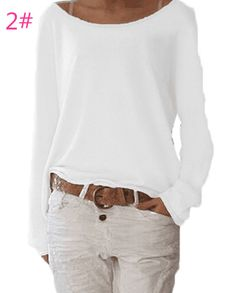 Shop Floryday for affordable Sweaters. Floryday offers latest ladies' Sweaters collections to fit every occasion. Mode Outfits, Casual Outfits, Casual Shirt, Chemises Sexy, Sexy Shirts, Loose Shirts, Loose Tops, Mode Style, Pulls
