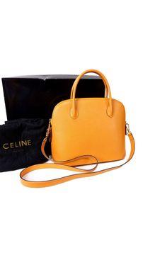 celine fold-over leather shoulder bag