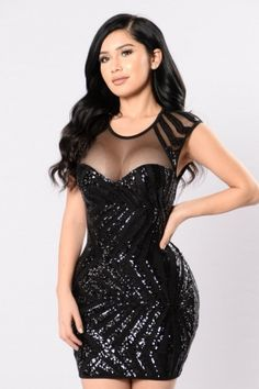 Black Sequins Party Dress 23930-2 US 10.5 Dress Styles 060b3d9a6e7e