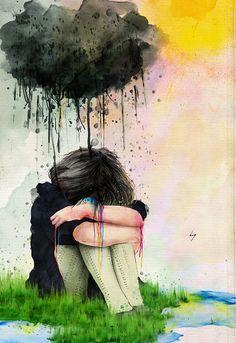 Minha vida está desmoronando cada vez mais...Como eu queria voltar no tempo para poder sentir aquele sentimento de felicidade que nem lembro mais como é.