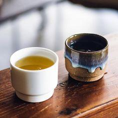 Contrast! Two sides of Asemi Co. ceramics, different but yet the same. #pottery #ceramics #artisan #design  #食器 #湯のみ #松代焼 #日本 #長野 #tea #teacup #kiln #handcrafted #stoneware #crafts #japan #instapotter #handmade #matsushiro #coffee  madeinjapan #波佐見 #湯呑み #九州 #長崎 #プロトタイプ  #アセミコ #porcelain #Hasami  #ラムネ #kyushu