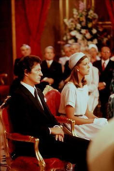 Caroline of Monaco and Philippe Junot are Married Civilly, June 1978