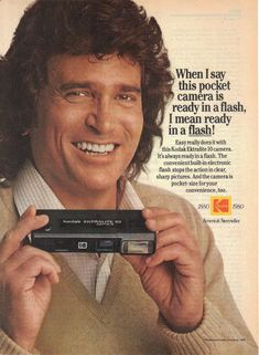 Michael Landon -  vintage camera ads -