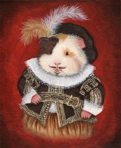 William Haykespeare Shakespeare Guinea Pig by WhenGuineaPigsFly