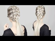 How to: 5 STRAND BRAID tutorial | Long Medium Length Hairstyles - YouTube