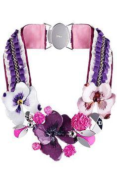 Christian Dior pansy flower choker