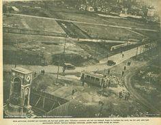 Taksim Meydanı ve mezar taşları. 1929