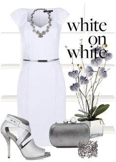 """""""white on white"""" by lee522 ❤ liked on Polyvore"""