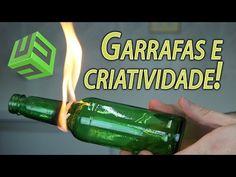 FORMAS CRIATIVAS DE REAPROVEITAR GARRAFAS DE VIDRO - YouTube
