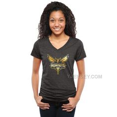 http://www.yjersey.com/new-charlotte-hornets-womens-gold-collection-v-neck-tri-blend-tshirt-black.html Only$27.00 NEW CHARLOTTE #HOR#NETS WOMEN'S GOLD COLLECTION V NECK TRI BLEND T-SHIRT BLACK Free Shipping!